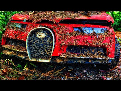 Restoration an abandoned BUGATTI CHIRON supercar (children's electric car) | Rebuild supercar