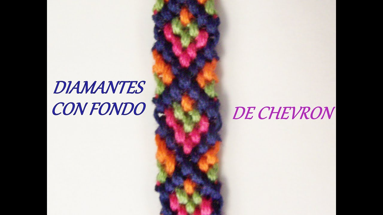 Pulsera de Hilo: Diamantes con Fondo de Chevron - YouTube