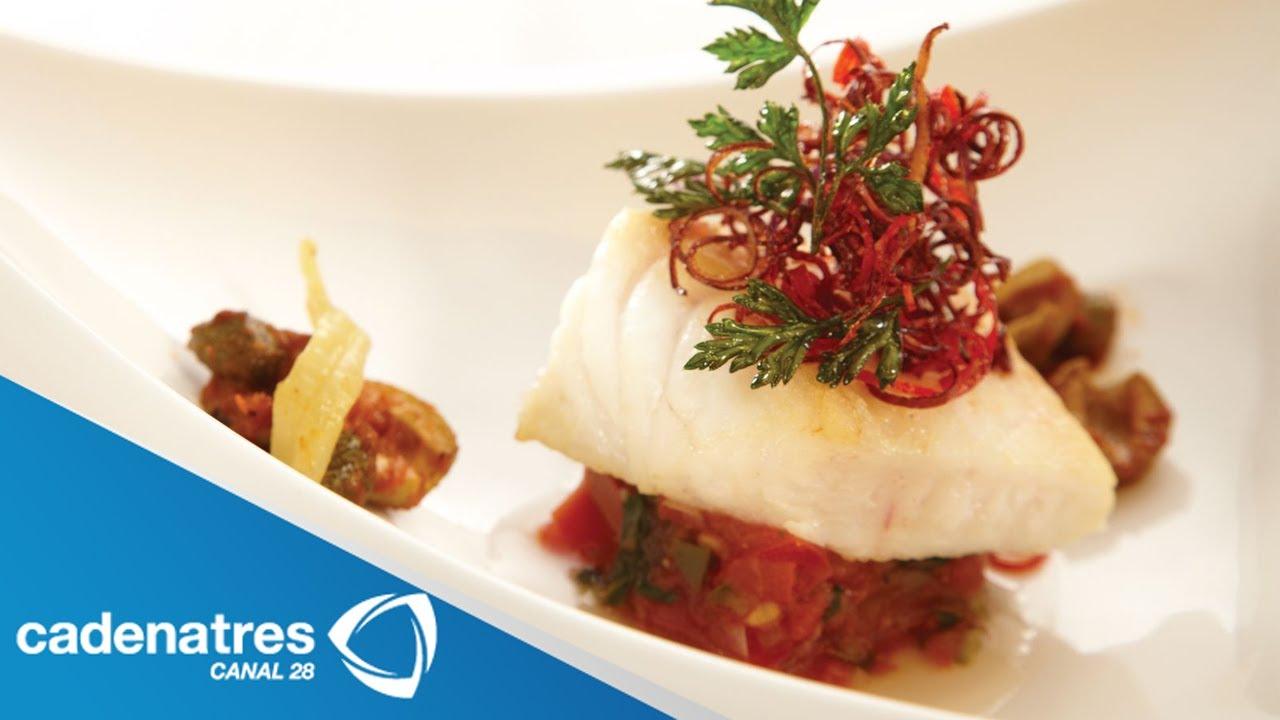 Receta para preparar filete de pescado con aceitunas y - Platos gourmet con pescado ...