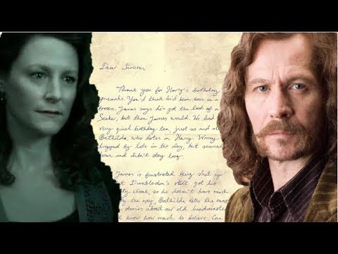 Lily Potters Letter To Sirius Black Explained