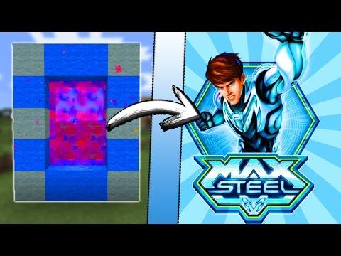 Minecraft COMO hacer un PORTAL a la DIMENSION de MAX STEEL   COMO HACER UN PORTAL DE MAX STEEL