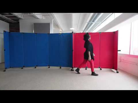 Building a Portable Wall With Folding Canvas Partitions