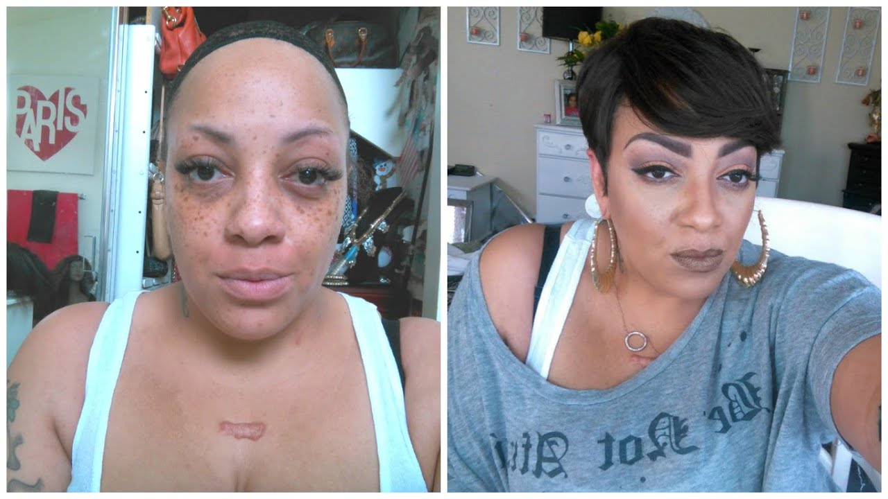 Before Amp After Beauty On A Budget Full Face Amp Short Hair
