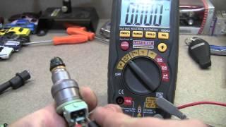Дюза, инжектор горивна система - тестване с мултицет