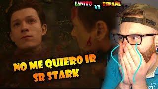 ESPAÑOL REACCIONA AL DOBLAJE LATINO de Avengers Infinity War 😢 No me quiero ir Señor Stark 😭 Lloro