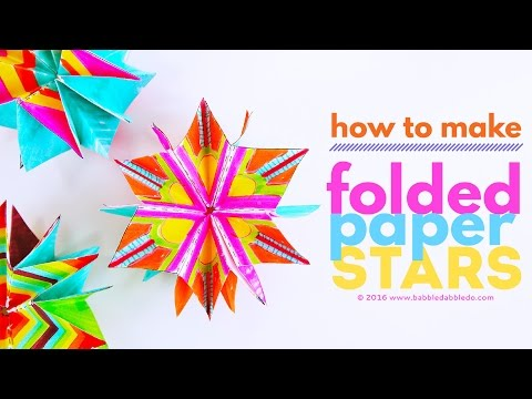 Paper Art Project for Kids: Folded Paper Stars