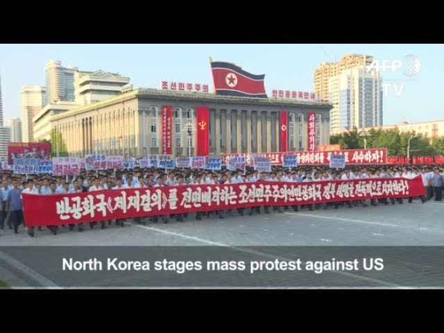 N. Koreans gather in support of government after Trump warning