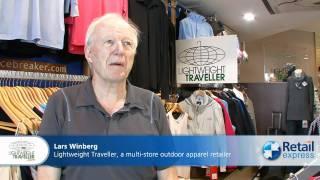 Lightweight traveller - multi-store outdoor apparel retailer & their pos