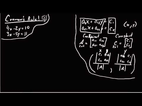 how to solve simultaneous equations witrh cramners rule