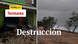 Así quedó la carretera en San Andrés tras el paso del huracán Iota | Vicky en Semana