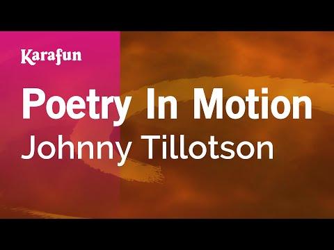 Karaoke Poetry In Motion - Johnny Tillotson *