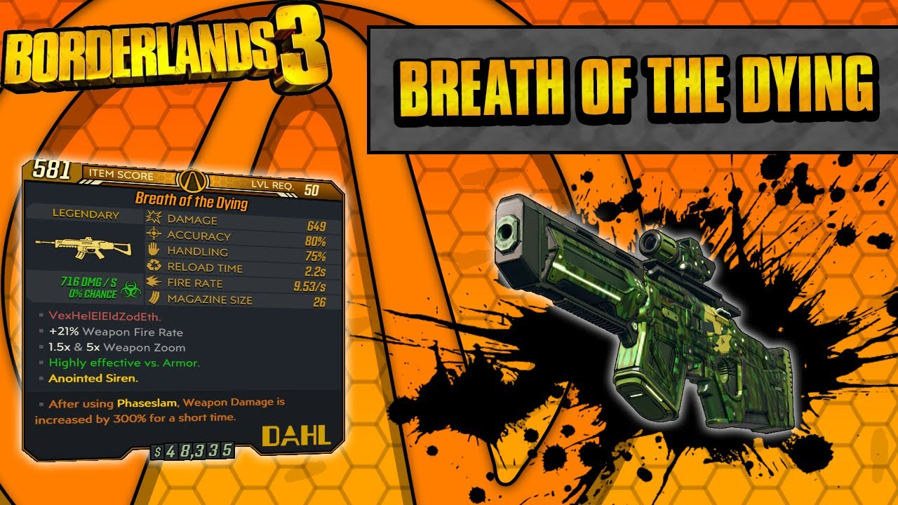 Borderlands 3 | Breath of the Dying Legendary Weapon Guide (Corrosive Explosions!) thumbnail