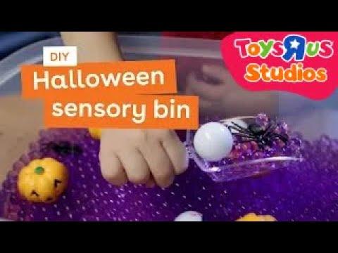 Halloween Sensory Bin DIY Game For Kids