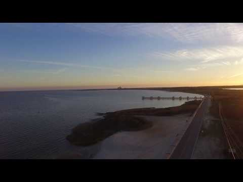 DRONE FLYING AROUND THE SILVER SLIPPER HOTEL CASINO LAKESHORE MS BAYOU CADDY