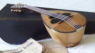 Raffaele Esposito Mandolin 1895 - before and after restoration
