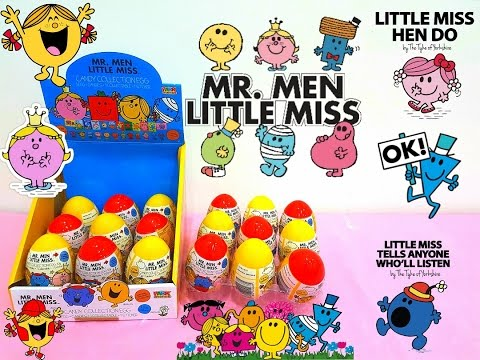 MR. MEN LITTLE MISS NEW COLOURFUL SURPRISE EGGS MANY TOYS, STICKERS AND FIGURINES FOR KIDS