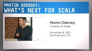 Lead Designer of Scala, Martin Odersky: What