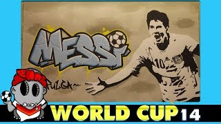 World Cup 2014 Graffiti - Lionel Messi (Argentina)