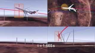 Profesor Paweł Artymowicz przedstawia rekonstrukcję trajektorii w ostatnich sekundach lotu
