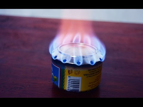membuat kompor spirtus sederhana / how to make alcohol stove