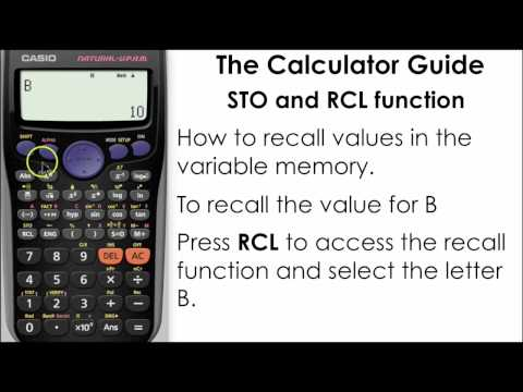 Storing In The Memory - Use The Store (STO) & Recall (RCL) function - Casio Calculator fx-85GT PLUS