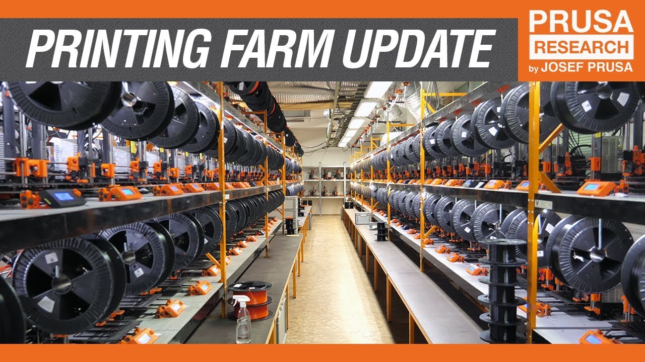 Three Hundred 3d Printers In One Room A Quick Look To Our Printing Farm Youtube
