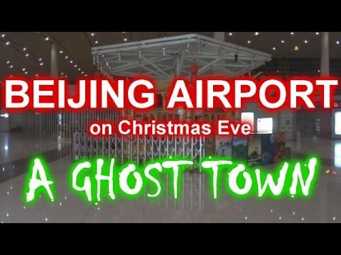LANDING AT BEIJING AIRPORT ON CHRISTMAS EVE - Flughafen Peking an Heilig Abend