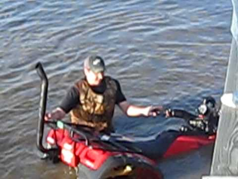 Big Four Wheelers >> Four wheeler snorkel kit in lake - YouTube
