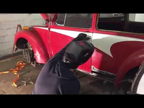 HOW TO: INSTALLING ROCKER PANELS ON A VINTAGE VOLKSWAGEN! VW BEETLE * PLUS PATCH PANEL REPAIR!