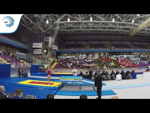 Lilas POTTING (POR) - 2016 Double Mini-Trampoline junior Europeans, final