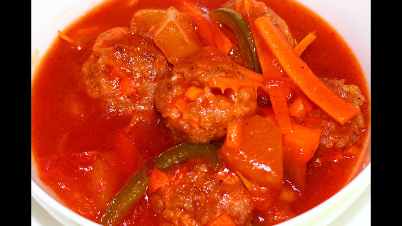 recipe: sweet and sour meatballs with pineapple and tomato sauce [3]