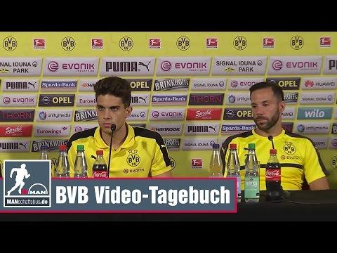 Pressekonferenz mit Castro und Bartra. BVB-Trainigslager in Bad Ragaz.
