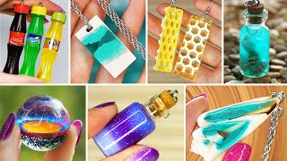 TOP 20 DIY JEWELRY IDEAS FOR TEENAGERS |  FAIRY PENDANTS MADE OUT OF AN EPOXY RESIN