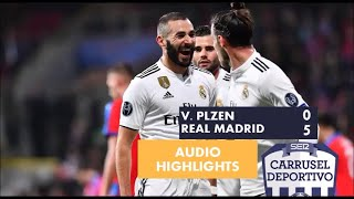 Viktoria Plzen vs. Real Madrid, 0-5: resumen del partido en Carrusel Deportivo