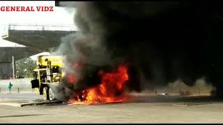 Crane caught fire at Mumbai, Govandi Signal | Crane Accidents | General Vidz