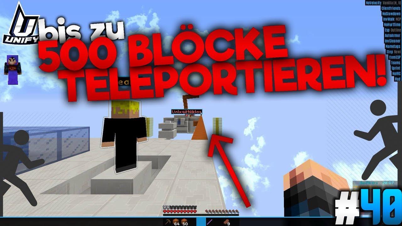 BLÖCKE TELEPORT MINECRAFT Lets Hack Bedwars Auf GommeHD - Minecraft spieler zu mir teleportieren