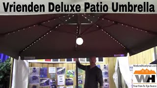 Vrienden Deluxe Patio Umbrella System: By John Young of the Weekend Handyman