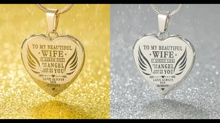 Gifts For Wife   Engraved Heart Necklace
