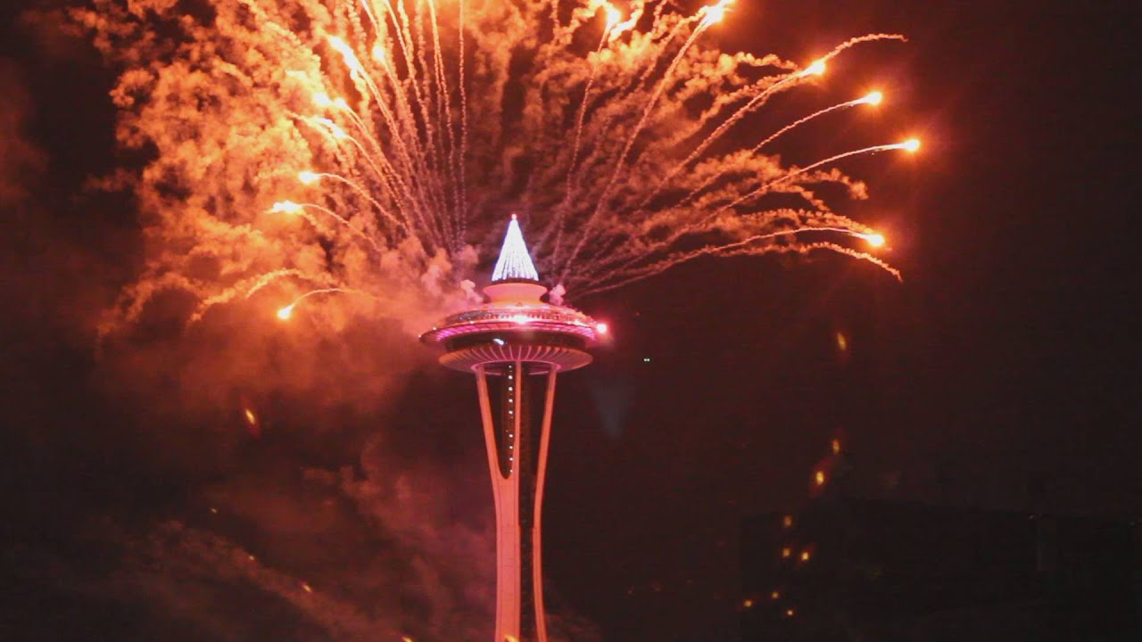 Seattle Space Needle Fireworks - YouTube