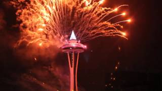 Seattle Space Needle Fireworks 2016