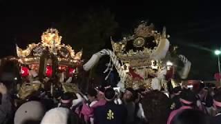 20181018 英賀東・山崎・英賀清水・矢倉西、入れ替わり練り合わせ in 城跡公園 thumbnail