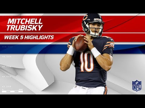Every Mitchell Trubisky Play from 1st Career Start! | Vikings vs. Bears | Wk 5 Player Highlights