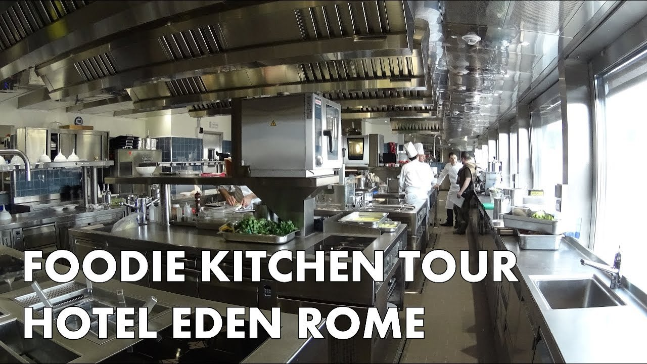 Hotel Eden Rome Foodie Kitchen Tour With Chef Fabio Ciervo