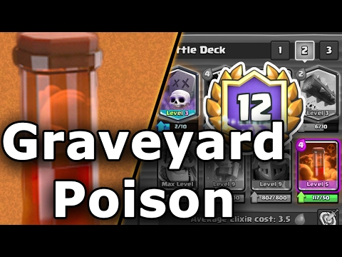 Clash Royale | Graveyard Poison Deck Guide | 12 Win Grand Challenge