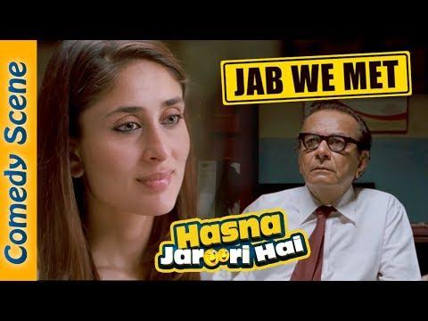Jab We Met Comedy Scene (Station Master) - Hasna Zaroori Hai - Shahid Kapoor - Kareena Kapoor