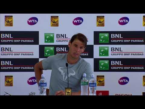 Rafael Nadal Press conference / QF Rome Masters 2018