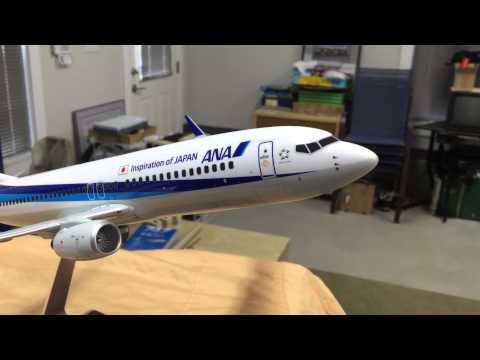 ANA All Nippon Boeing 737-800 Pacmin model video tour