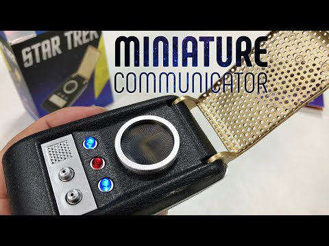 star-trek:-light-and-sound-communicator-(miniature-editions)-unboxing-and-review