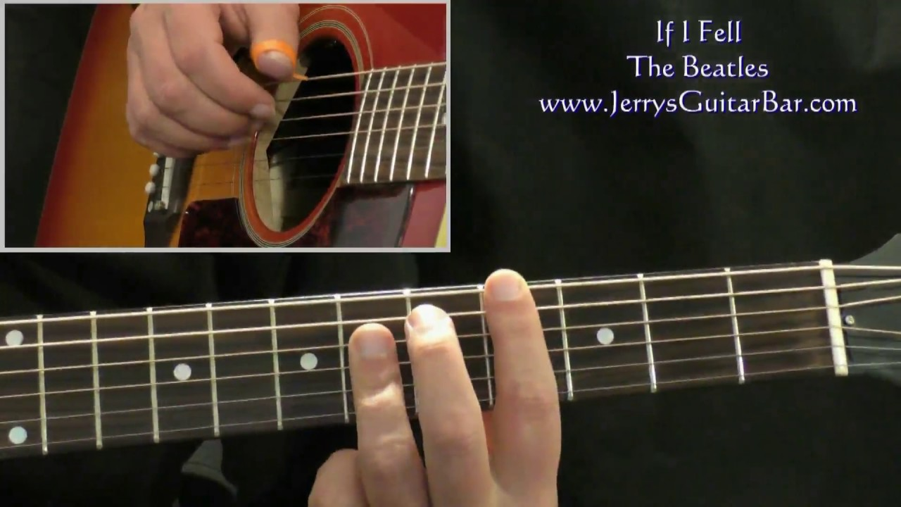 How To Play The Beatles If I Fell Intro Only Youtube