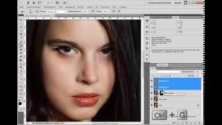 Как сделать гладкую кожу - Photoshop Tutorial от Евгения Карташова